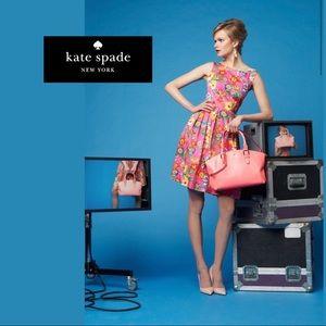 Kate Spade Pink Sonja Floral Midi Dress